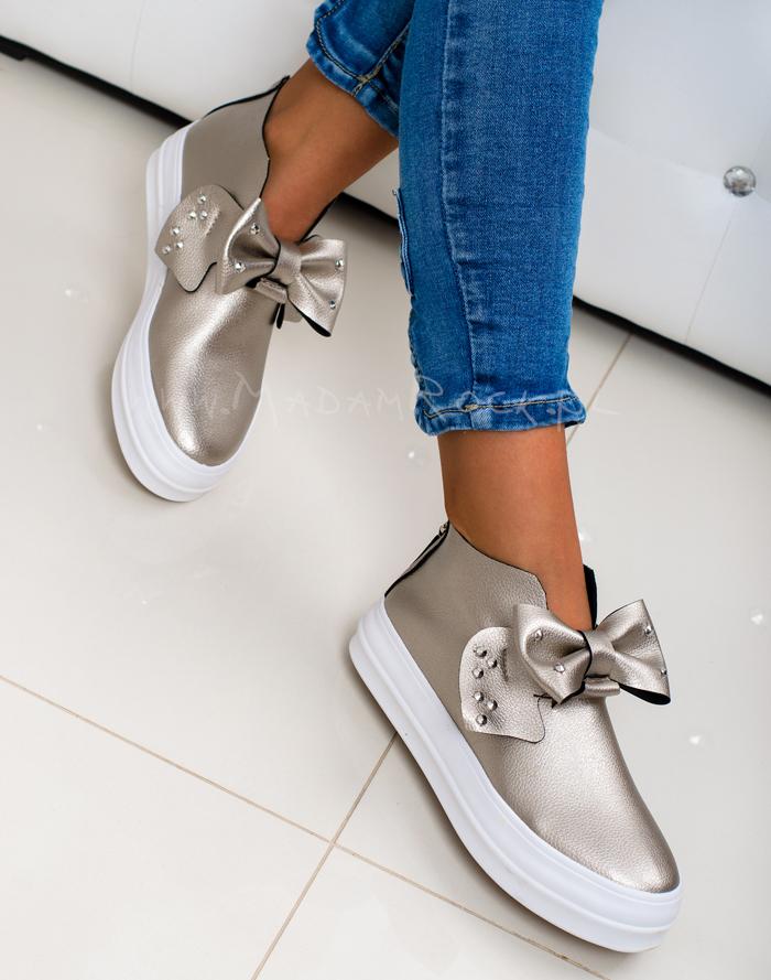 Sneakersy Madam Big Bow Czarne