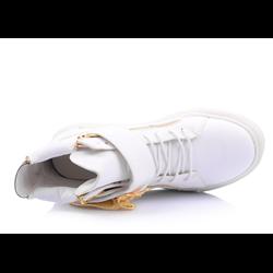 Trampki złoty orzeł nori białe