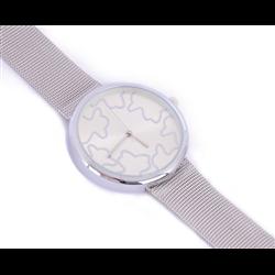 Elegancki zegarek żmijka srebrny