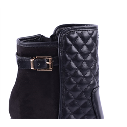 Eleganckie pikowane botki megu czarne