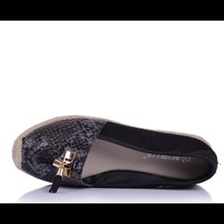 Lakierowane sneakersy Tiney biało-złote