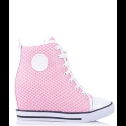 Sneakersy na rzepy białe