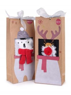 Szare świąteczne skarpetki...