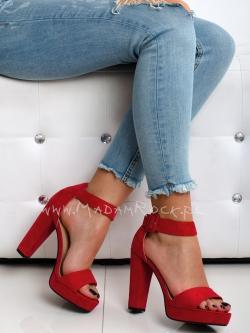 Sandały na słupku Lady Mali...