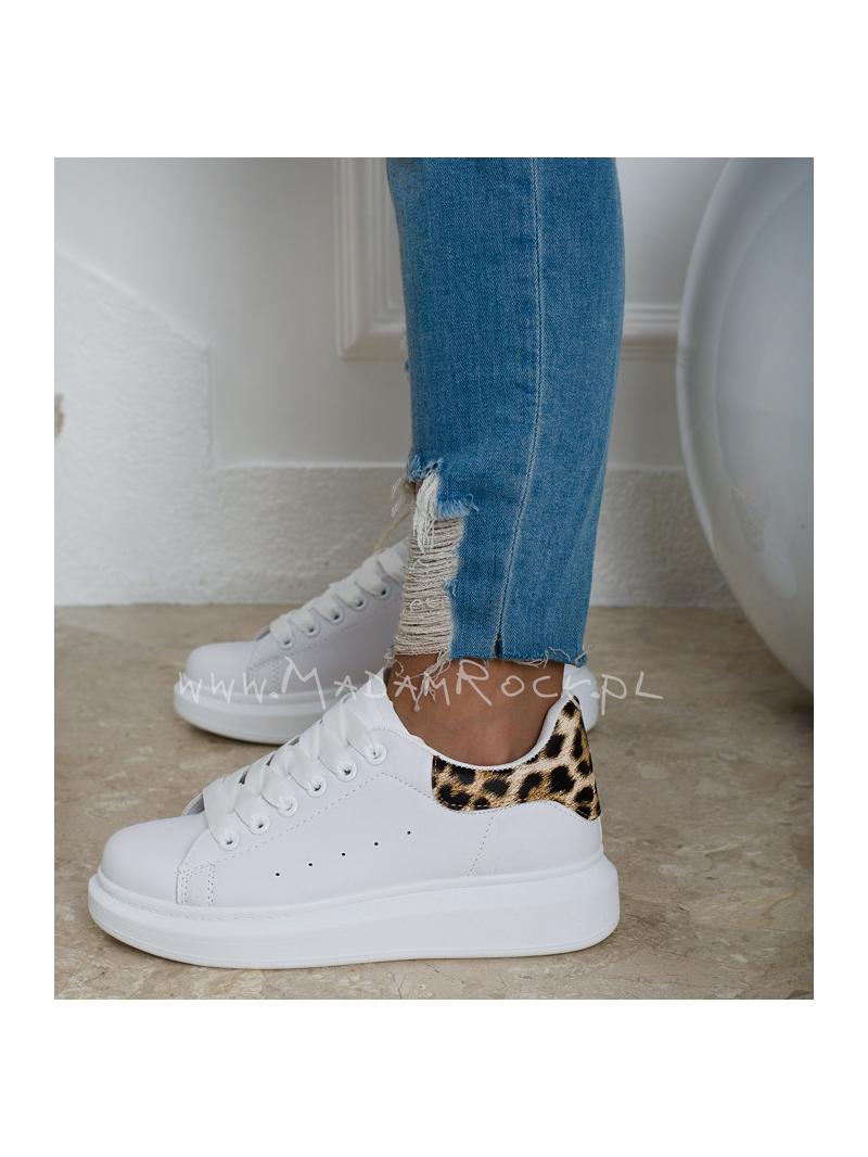 Buty sportowe Rock Upper białe panterka