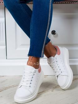 Buty sportowe Rock Upper białe róż