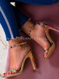 Sandały na obcasie Madam...