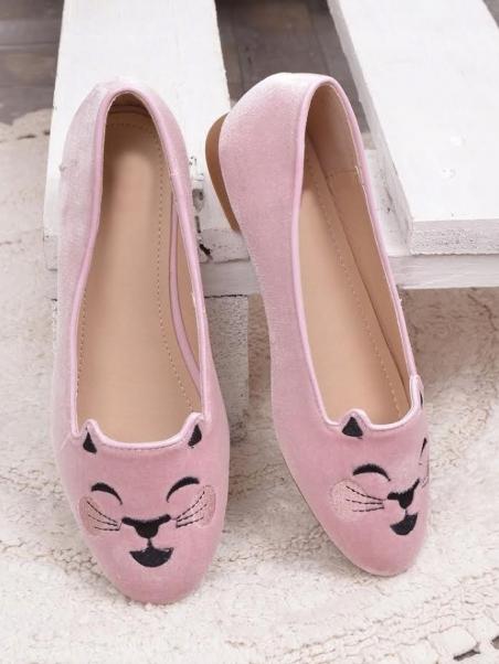 Mokasyny kotki różowe-OUTLET