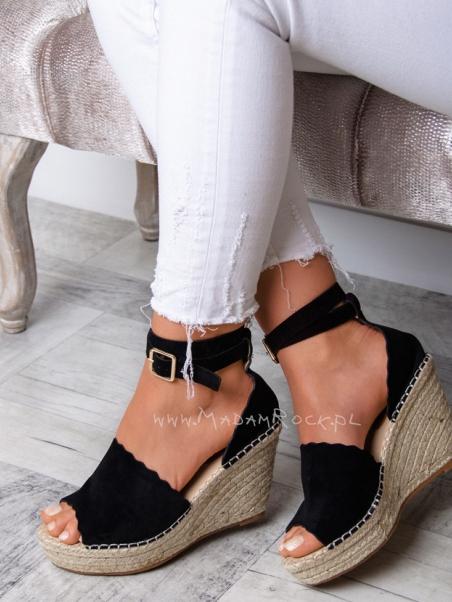 Sandały na koturnie Lady...