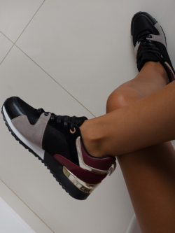 Sneakersy Rock Run Away Bordo