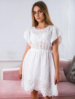 Sukienka ażurowa biała