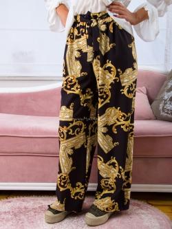 Spodnie szerokie wzór glamour