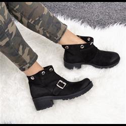 Czarne pikowane sneakersy