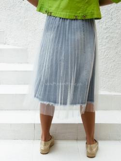 Spódnica plisowana jeansowa