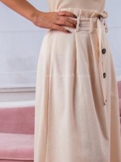 Spódnica maxi beżowa