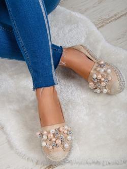 Espadryle z perłami Madam...