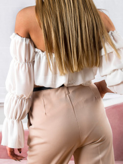 Bluzka szyfonowa biała...