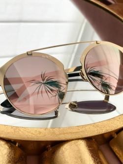 Okrągłe okulary Oxy pudrowe