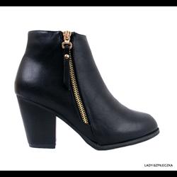 Skórzane classic boots de kanta czarne