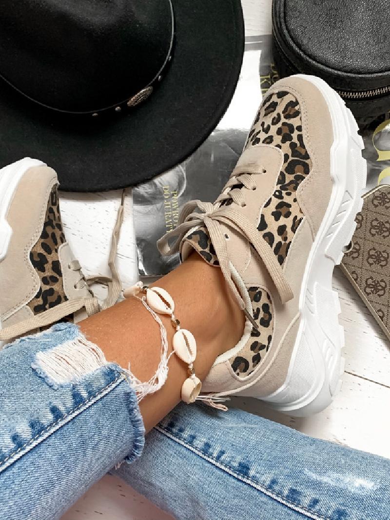 HIT! Lekkie wygodne damskie buty sportowe w panterkę