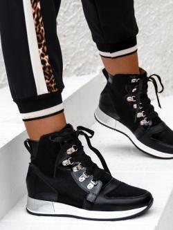 Sneakersy skórzane Lady...