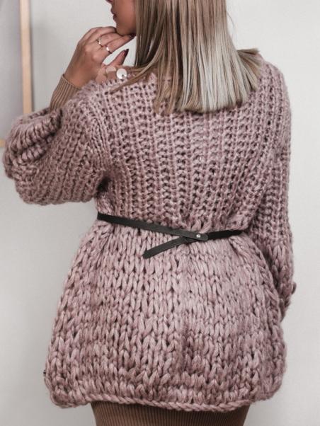Gruby sweter z cekinami...