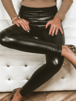 Spodnie legginsy czarne matowe