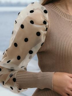 Sukienka prążkowana z...