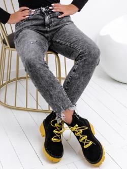 Spodnie jeansowe Queen szare