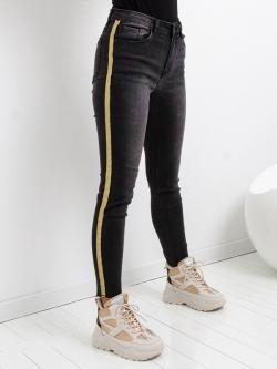 Spodnie jeansy szare ze...
