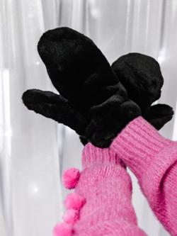 Rękawiczki pluszowe na...