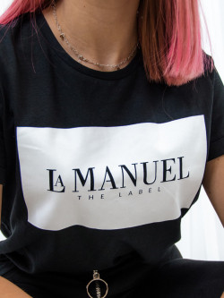 T-shirt bawełniany czarny