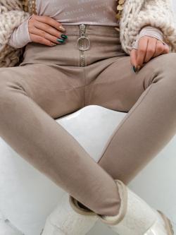 Spodnie elastyczne zamszowe...