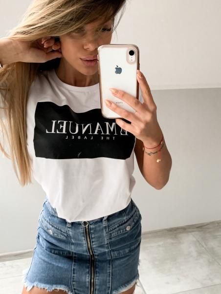 T-shirt bawełniany biały