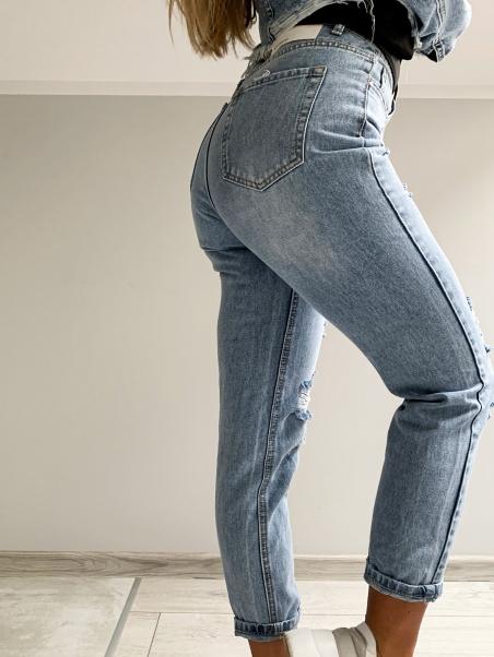 Spodnie typu boyfriend z...