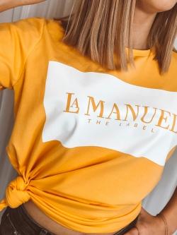 T-shirt bawełniany żółty
