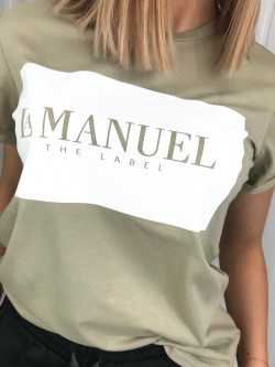T-shirt bawełniany khaki