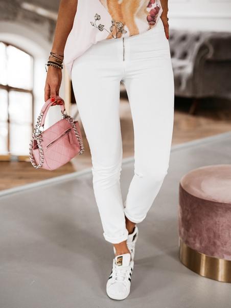Spodnie jeansowe Push-up białe