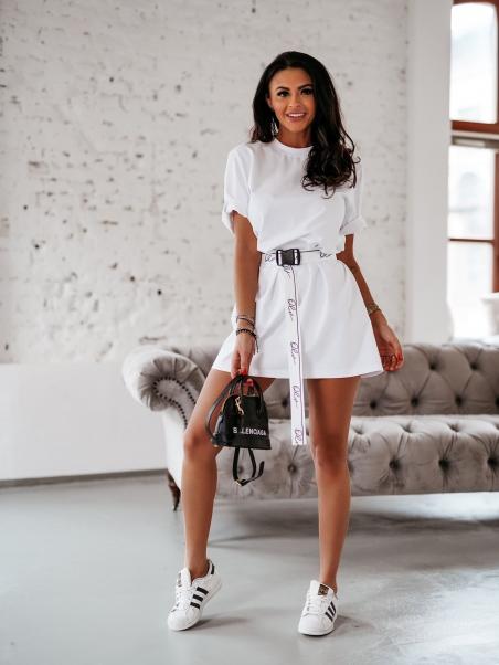 T-shirt oversize Hailey biały