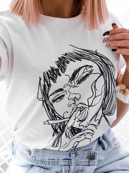 Bawełniany t-shirt z...