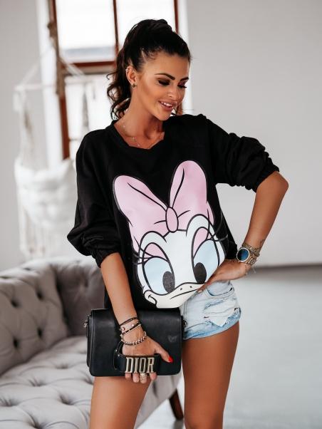 Bluza dresowa Daisy czarna