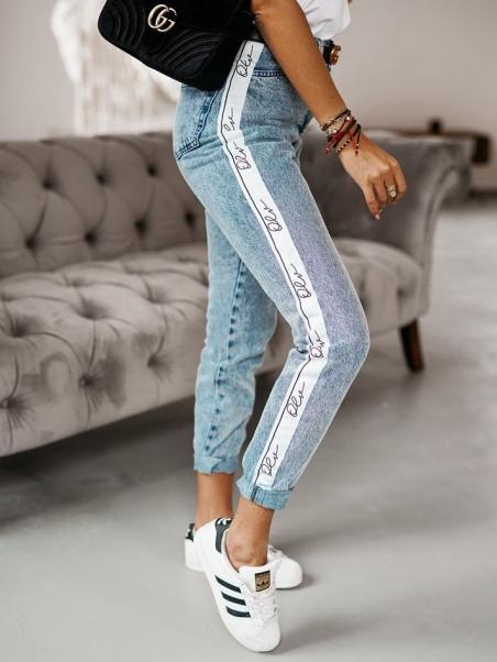 Spodnie z lampasem olv denim
