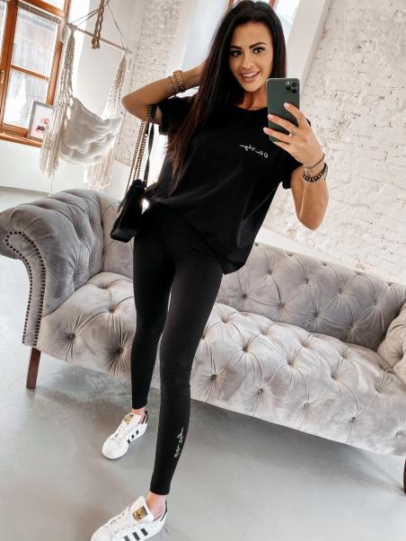 Elastyczne legginsy Olv czarne