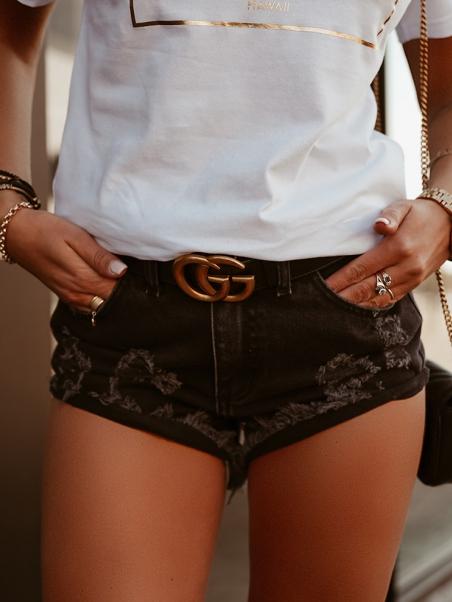 Krótkie spodenki jeansowe...