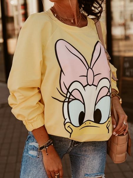 Bluza dresowa Daisy żółta