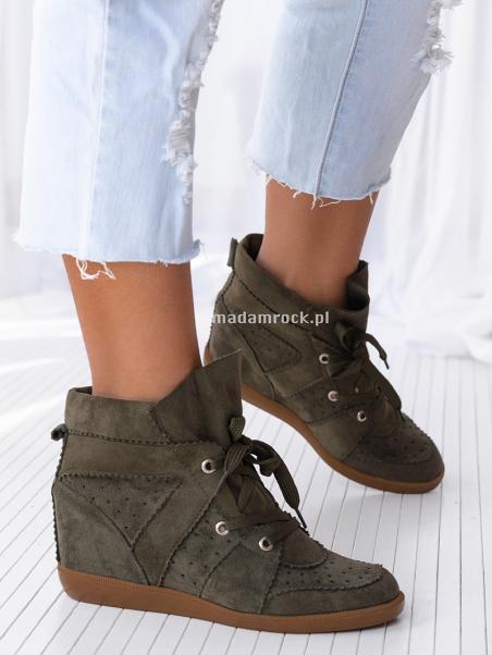Sneakersy Madam Millor khaki