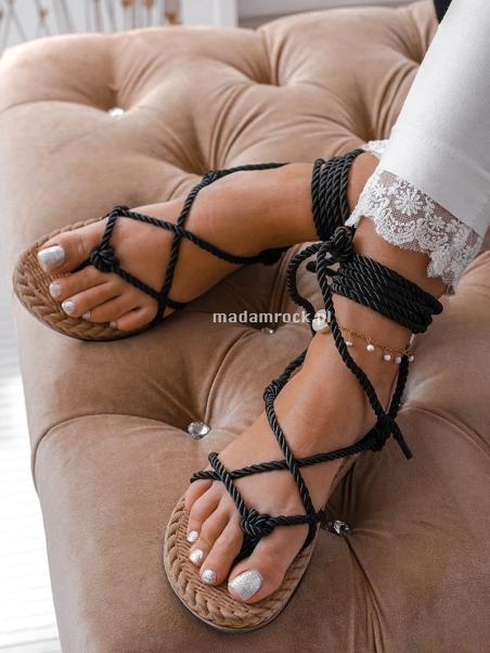 Sandały wiązane Lime Rock...