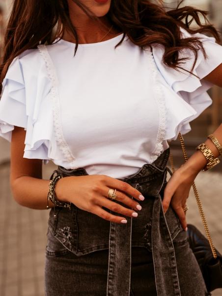 Bluzka bawełniana Stella biała