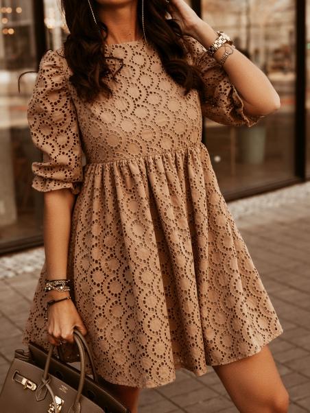 Ażurowa sukienka damska...