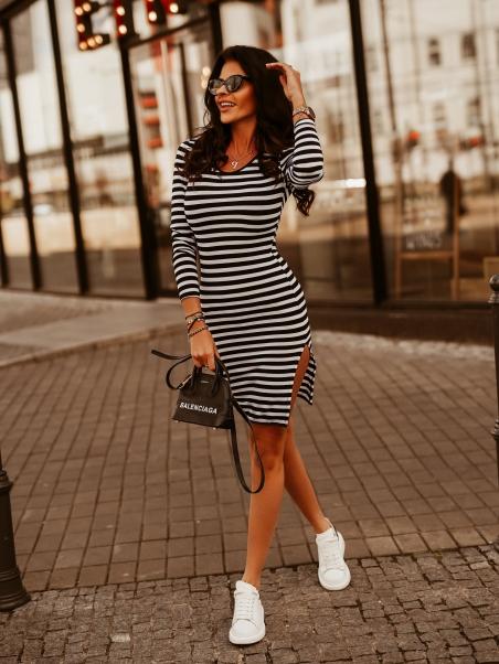 Elastyczna sukienka Cotton...
